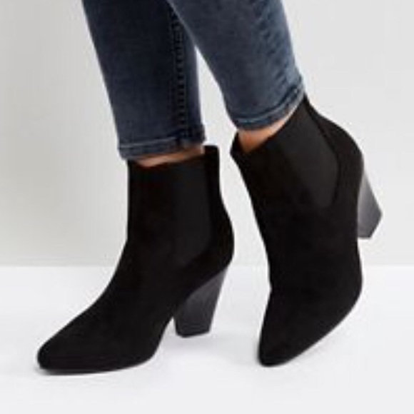 313c0e487a4 ASOS New Look Pointed Western Heeled Ankle Boots